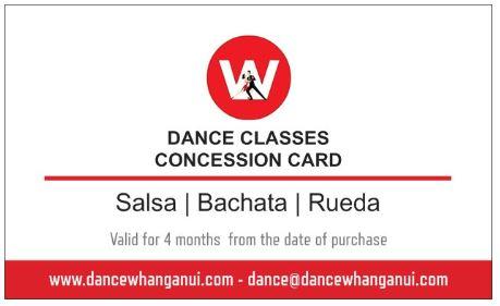 Partner Dance Classes Concession Card